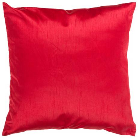 "Surya 18"" Square Venetian Red Throw Pillow"