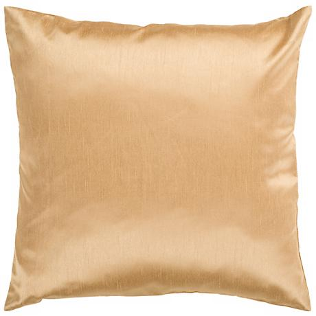 "Surya 18"" Square Cumin Yellow Throw Pillow"