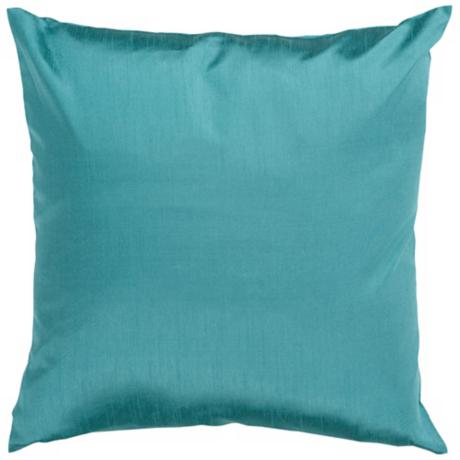 "Surya 18"" Square Turquoise Throw Pillow"
