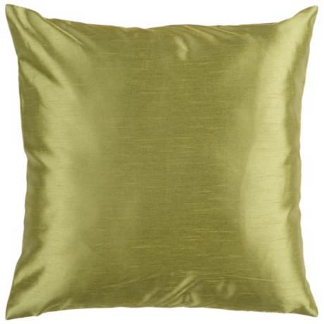 "Surya 18"" Square Avocado Green Throw Pillow"