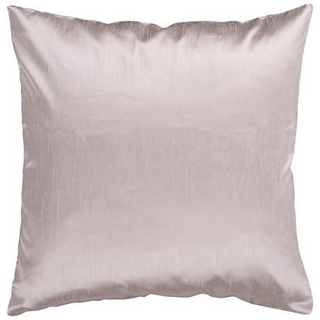 "Surya 18"" Square TaupeThrow Pillow"