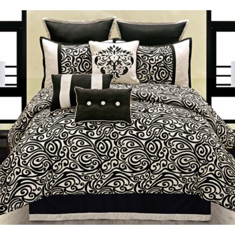 Carrington Black and White Comforter Set