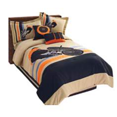 Extreme Biker Black and Tan Comforter Bedding Sets