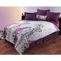 Harvest Pink Polka Dots Comforter Bedding Set