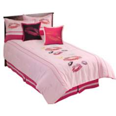Kisses Pink and Fuchsia Comforter Bedding Sets