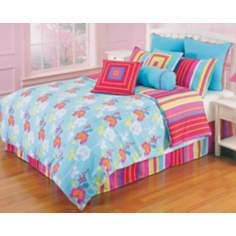 Kathy Ireland Pop Radiance Flower Bedding Set