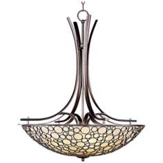 "Maxim Meridian 30"" Wide Invert Bowl Bronze Pendant Light"