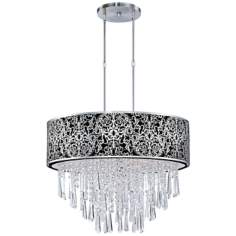 "Maxim Rapture 21"" Wide Black and Satin Nickel Pendant Light"
