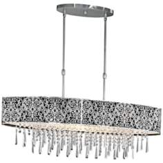 "Maxim Rapture 37 3/4"" Black and Nickel Island Chandelier"