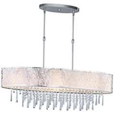 "Maxim Rapture 37 3/4"" Wide White and Satin Island Chandelier"