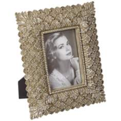 Bronze and Silver Leaf Rectangular 4x6 Picture Frame