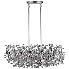 "Maxim Comet 38"" Wide Chrome and Crystal Island Light"