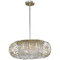 "Maxim Arabesque 24"" Wide Golden Silver Pendant Light"