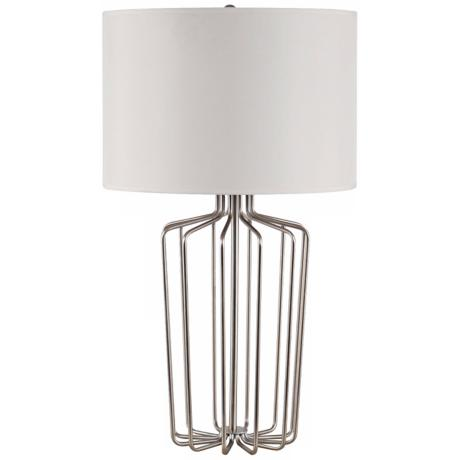 Cage Polished Nickel Table Lamp