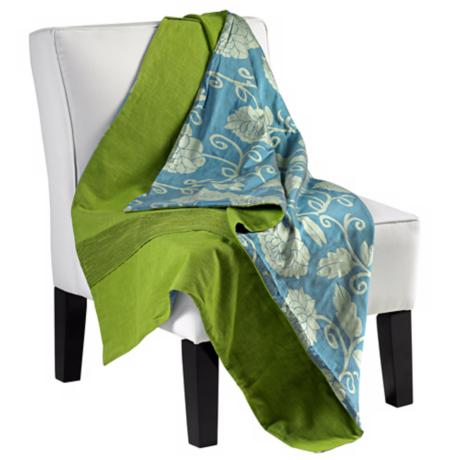 Fresca Reversible Green / Blue Throw