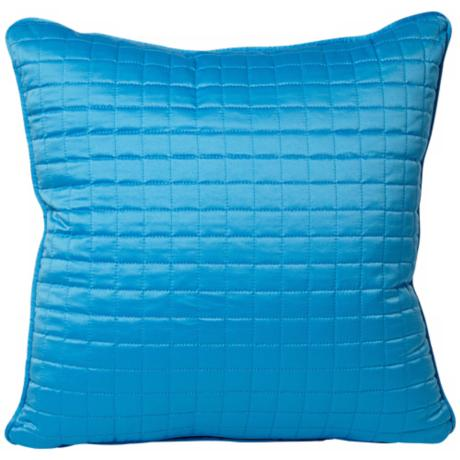 "Cyan 18"" Square Stitched Decorative Pillow"