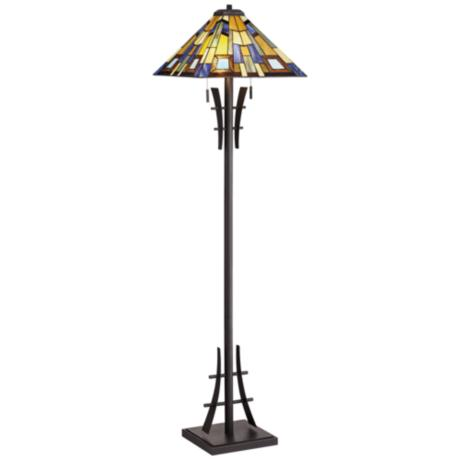 Robert Louis Tiffany Jewel Tone Art Glass Floor Lamp - #V3461 ...