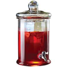 "Apothecary Style 13 1/2"" High Glass Beverage Dispenser"