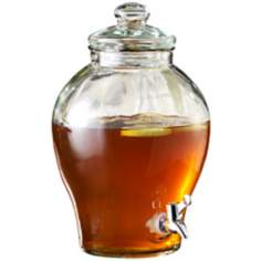 Glass Urn 1.6 Gallon Drink Dispenser
