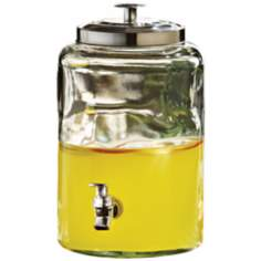 Antique Style 1.6 Gallon Glass Drink Dispenser
