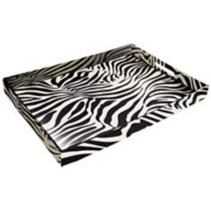 Zebra Faux Leather Tray