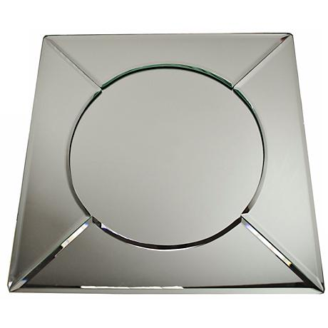 "Mirrorred 13"" Square Plate Charger"