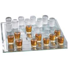 "Shot Glass Checkers with 14"" Square Checkerboard"