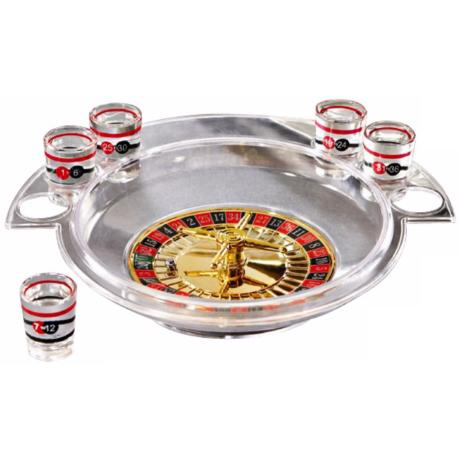 Roulette Wheel Shot Glass Set