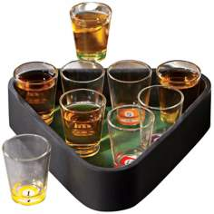 Pool Table Triangle Shot Glass Set