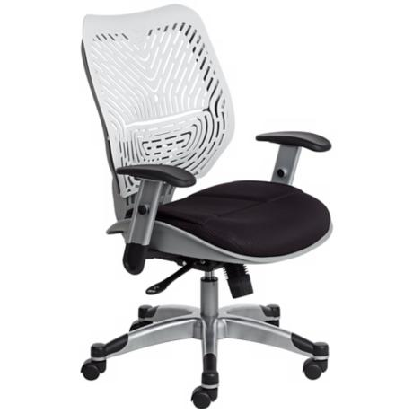 REVV White and Black SpaceFlex® Back Office Chair