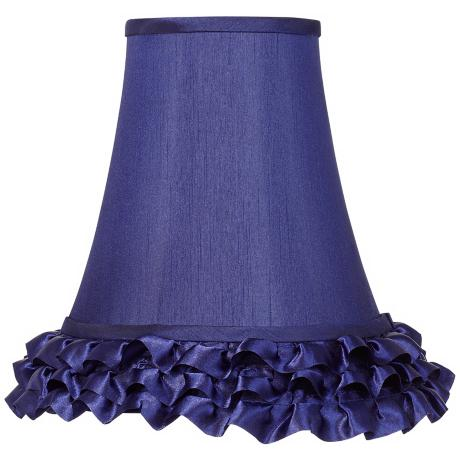 Navy Blue Ruffle Bell Shade 5x10x10 (Spider)