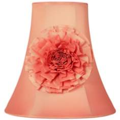 Peach Flower Trim Bell Shade 5x10x10 (Spider)