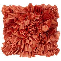 Persimmon Ruffled Drum Shade 8x9x9 (Spider)
