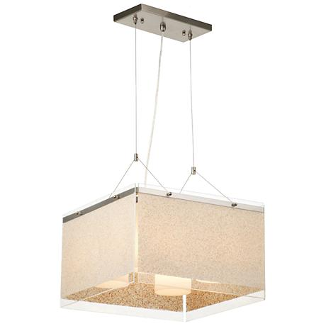 "Forecast Pacifica 16 1/2"" Wide Satin Nickel Pendant Light"
