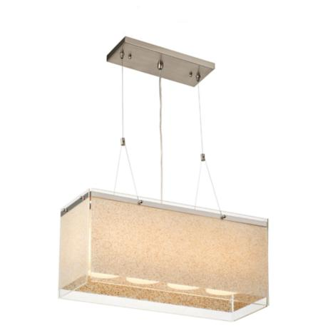 "Forecast Pacifica 22 1/2"" Wide Satin Nickel Pendant Light"
