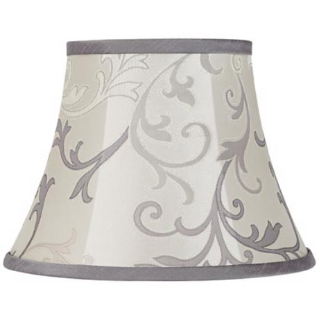 Grey Scroll Bell Lamp Shade 7x12x9 (Spider)