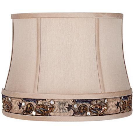 Tall Drum Lamp Shades on Dark Tan With Gallery Trim Drum Lamp Shade 12x14x11  Spider