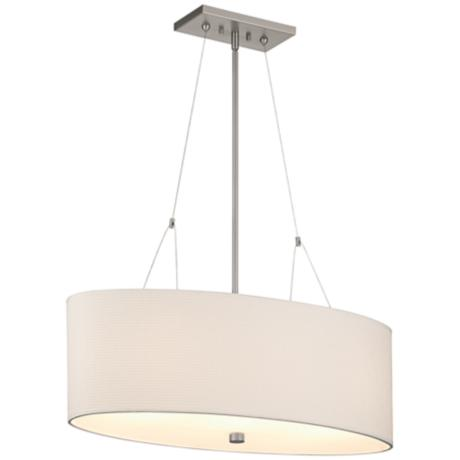 Forecast Alexis 3-Light Satin Nickel Oval Pendant Light