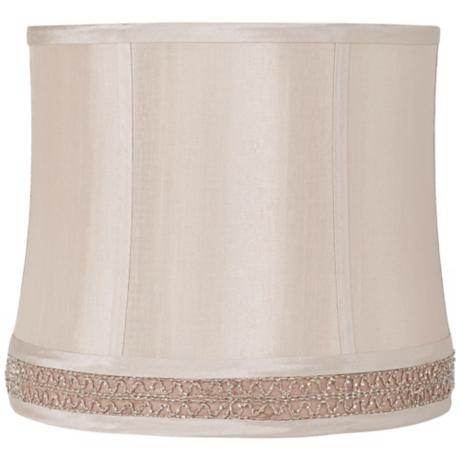 Beige Beaded Gallery Drum Lamp Shade 11x12x10.25 (Spider)