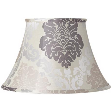 Cream and Gray Floral Lamp Shade 10x18x12 (Spider)