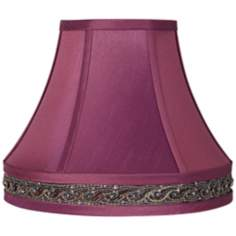 Grape Purple Embroidered Gallery Lamp Shade 6x12x10 (Spider)