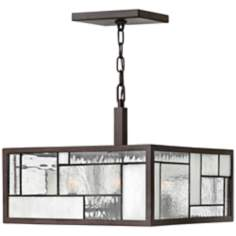 "Hinkley Mondrian 16"" Wide Buckeye Bronze Pendant Light"