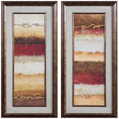 "Uttermost Infused I & II Earth-Tone 45"" High Wall Art"