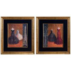 "Uttermost Set of 2 Couture I & II 32 1/4"" Wall Art"