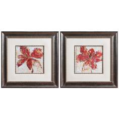 "Uttermost Set of 2 Floral Gesture 22 1/2"" Wide Wall Art"