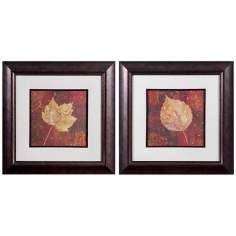 "Uttermost Set of 2 Golden Fall 24 1/2"" Wide Wall Art"