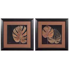 "Uttermost Set of 2 Black Balazo 33 3/4"" Wide Wall Art"
