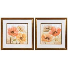 "Uttermost Set of 2 Poppy Allure 31 1/2"" Wide Wall Art"