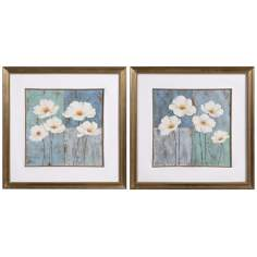 "Uttermost Set of 2 Flower Fields 31 1/2"" Wide Wall Art"