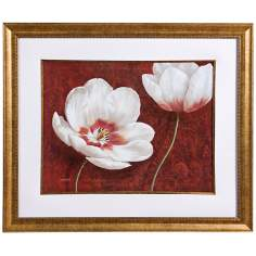 "Uttermost 40 1/4"" Wide Prized Blooms Framed Wall Art"